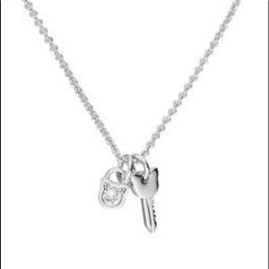 NWT Karl Lagerfeld choupette lock and key necklace